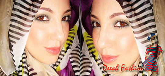 Jilbab Garis Salur Chic