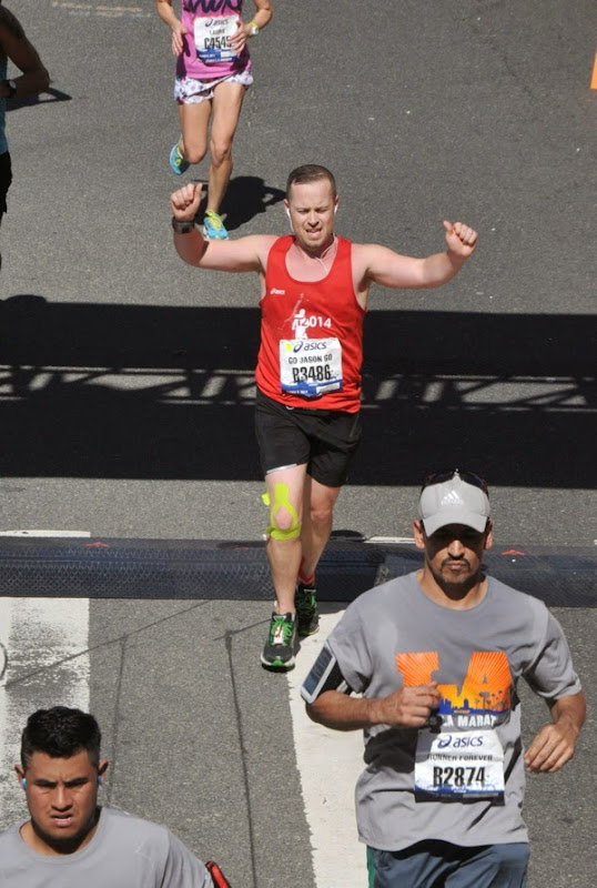 Crossing L.A. Marathon 2014 Finish Line