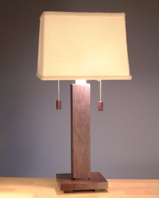 Wenge table lamp