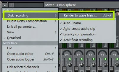Cara convert pattern channel ke wave file di mixer
