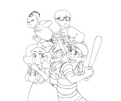 #13 Ness Coloring Page