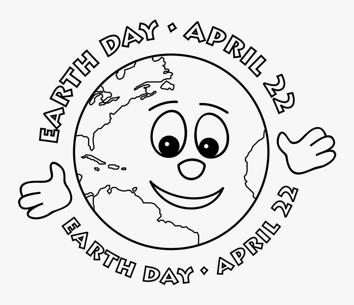 Free Earth Day 2015 Black adn White Clip Art Download
