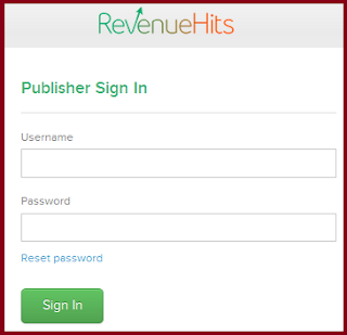 Sign in RevenueHits Acccount