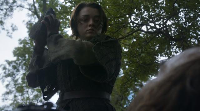 Arya piedra Sandor clegane el perro - Juego de Tronos en los siete reinos