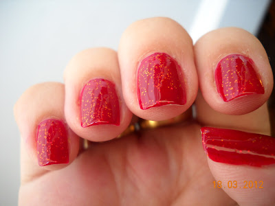 Chunky Holo Scarlet Kleancolor glitters holographic nails uñas nail polish esmaltes