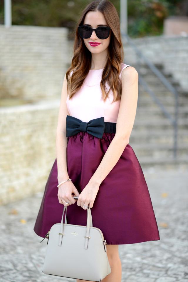 dress with black bow belt on M Loves M @marmar