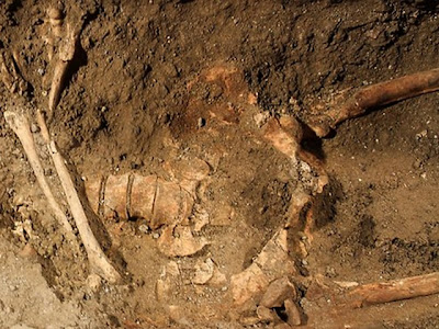 The skeleton dug up at the Saint Ursula convent in Florence is not that of Mona Lisa [Credit: Claudio Giovanninni/AFP]