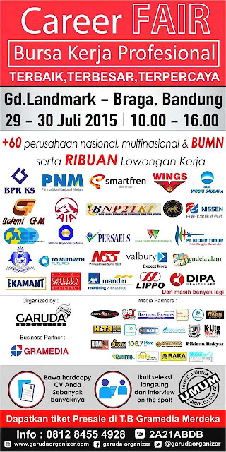 Jadwal Job Fair di Bandung Juli 2015