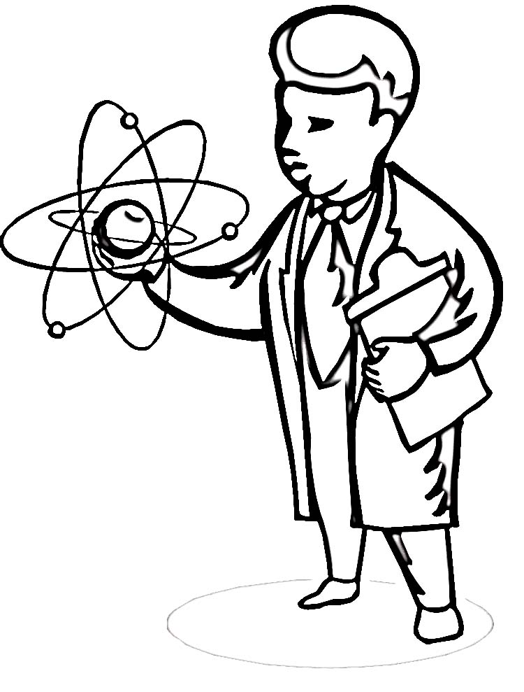 Scientist Coloring Pages Printable