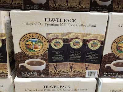 Royal Kona Coffee Company Travel Pack features 3 10% Kona flavors