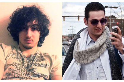 Chechen suspects in the Boston bombings Dzhokhar and Tamerlan Tsarnaev