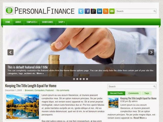 PersonalFinance - Free Wordpress Theme
