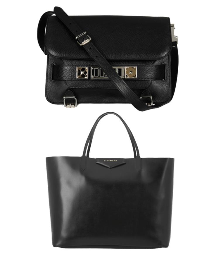 Proenza Schouler PS11, Givenchy Antigona tote