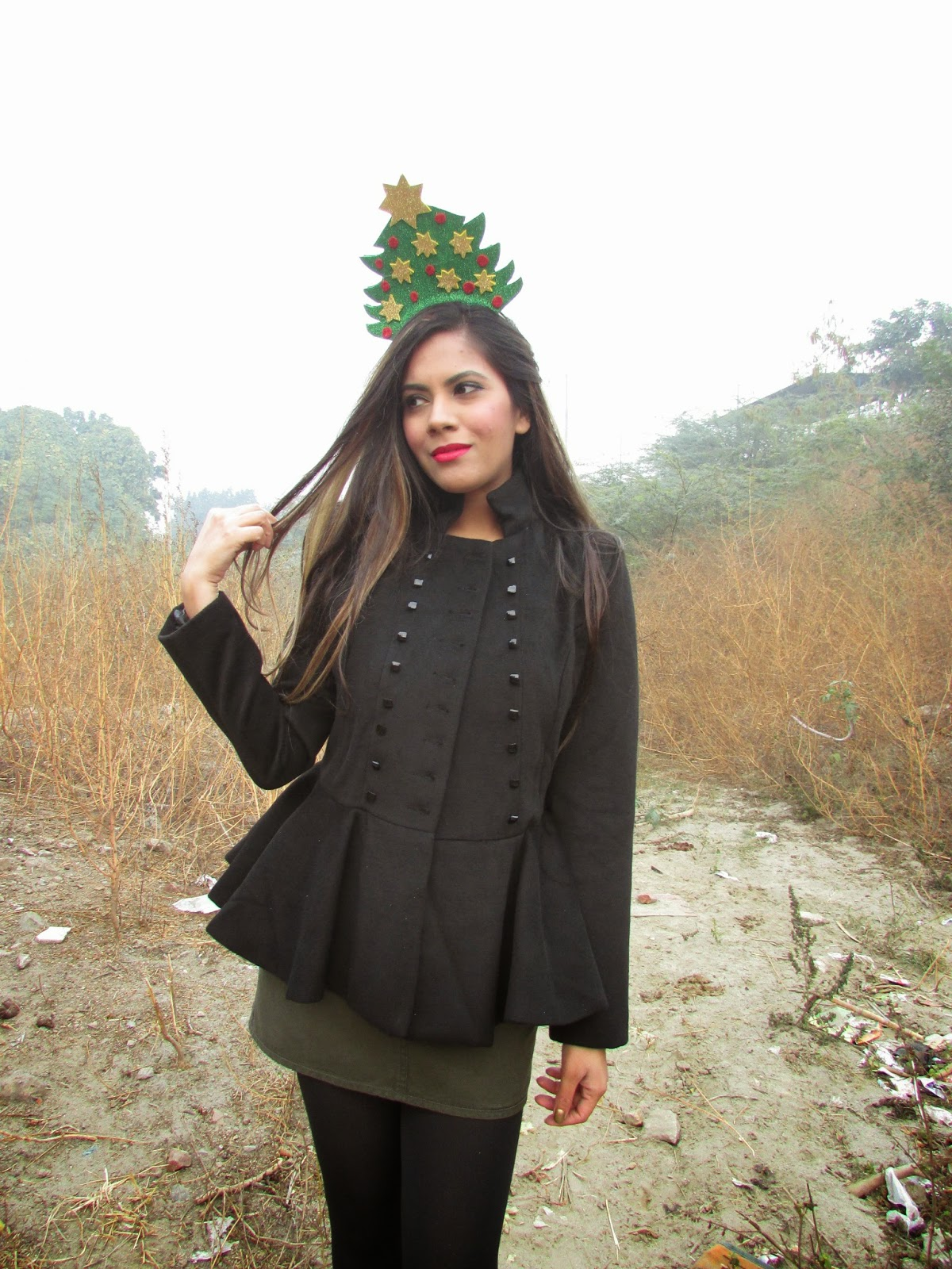 black peplum coat , christmas outfit, christmas headband,beauty , fashion,beauty and fashion,beauty blog, fashion blog , indian beauty blog,indian fashion blog, beauty and fashion blog, indian beauty and fashion blog, indian bloggers, indian beauty bloggers, indian fashion bloggers,indian bloggers online, top 10 indian bloggers, top indian bloggers,top 10 fashion bloggers, indian bloggers on blogspot,home remedies, how to