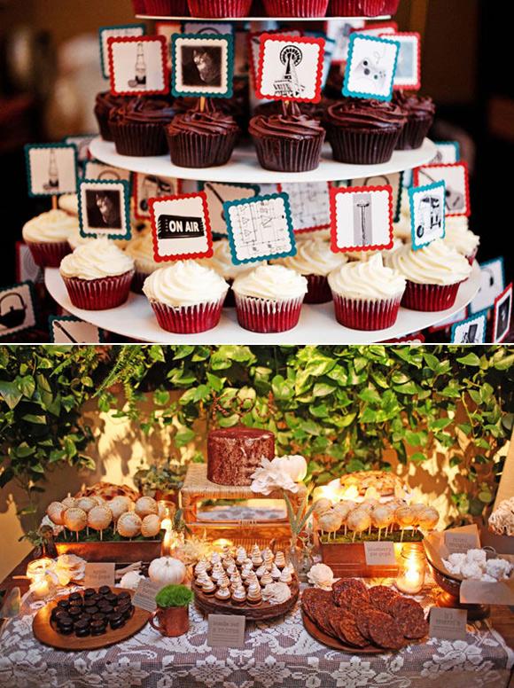 Novias y mucho m s mesas de bodas para postres y dulces - Postres para mesa de dulces ...