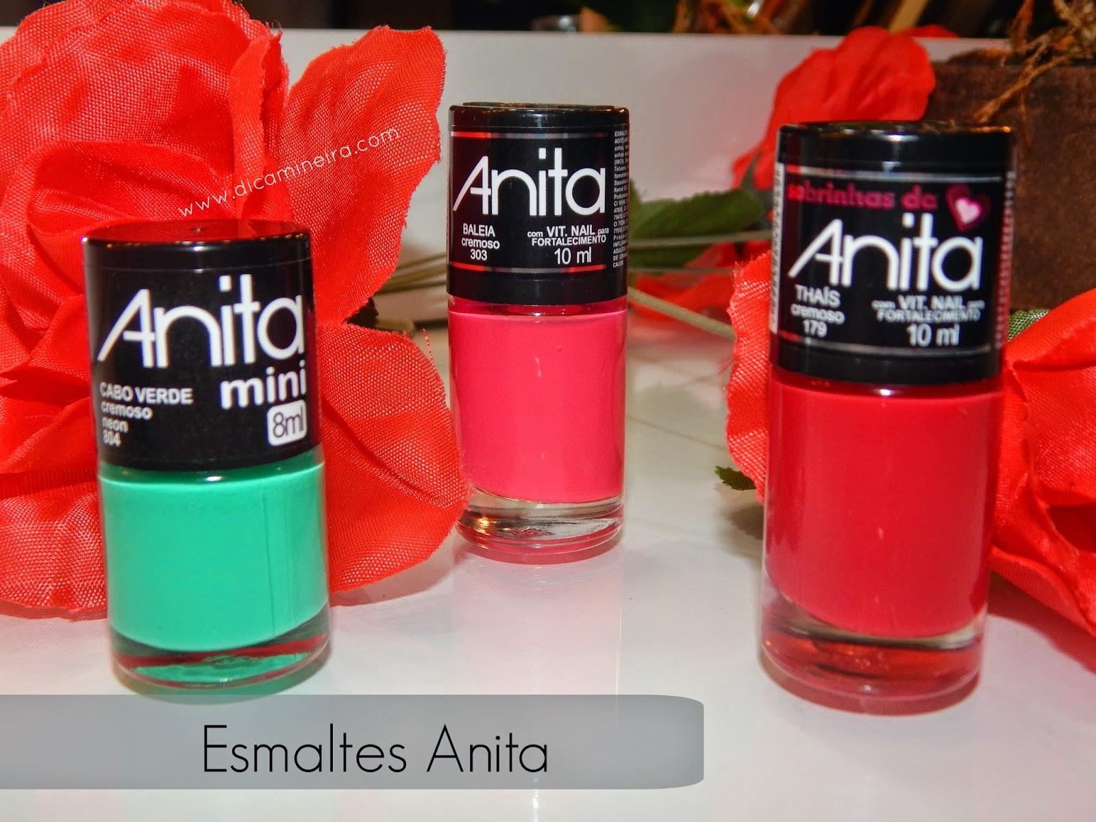 Esmaltes Recebidos- Novas Coleções Anita : Mini, Sobrinhas da Anita e Cores do Mar