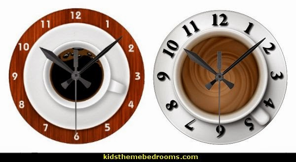 Coffee+Time+Wallclocks Coffee Themed Curtains Create A Coffee Themed Kitchen