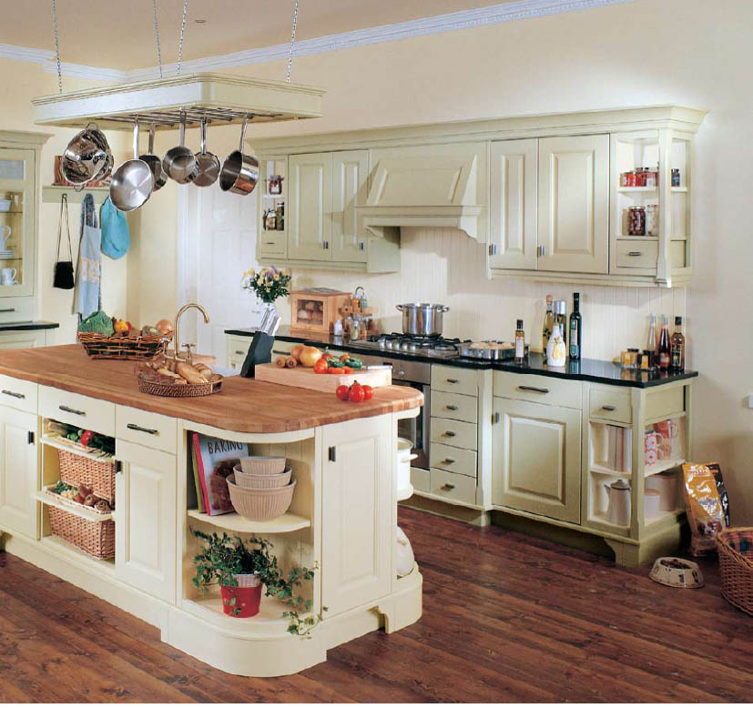 Modern furniture country style kitchens 2013 decorating ideas for Country kitchen cabinets