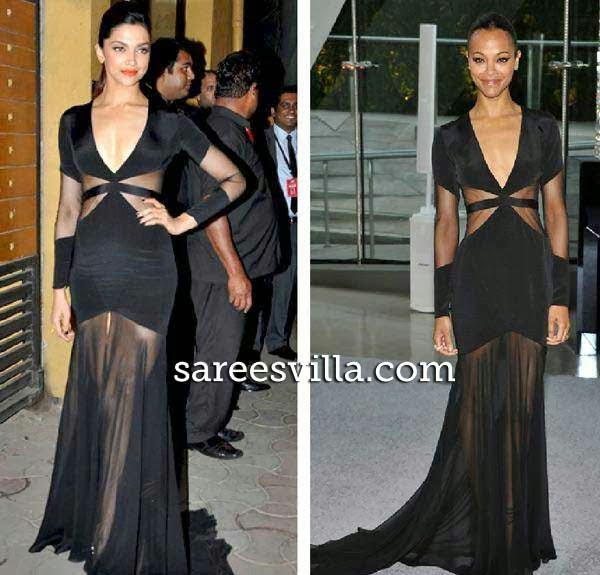 Zoe Saldana and Deepika Padukone  in same outfit