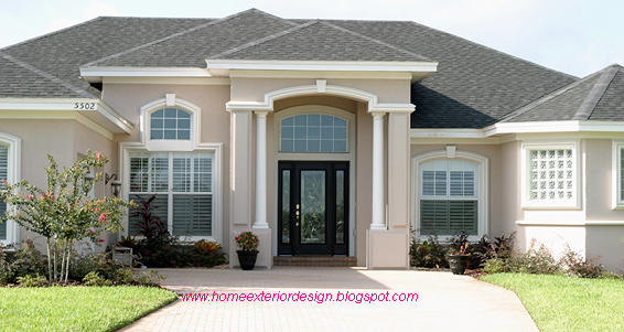 Modern exterior painted houses modern home architecture for Modern painted houses pictures