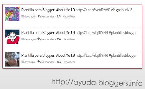 Mostrar trackbacks de Twitter en las entradas de Blogger