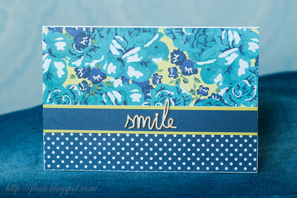 открытка clean and simple, открытка унисекс, открытка smile, скрап открытка