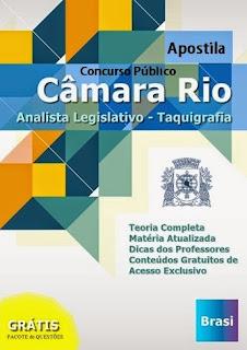 Apostila Câmara Municipal Rio Analista Legislativo - Taquigrafia