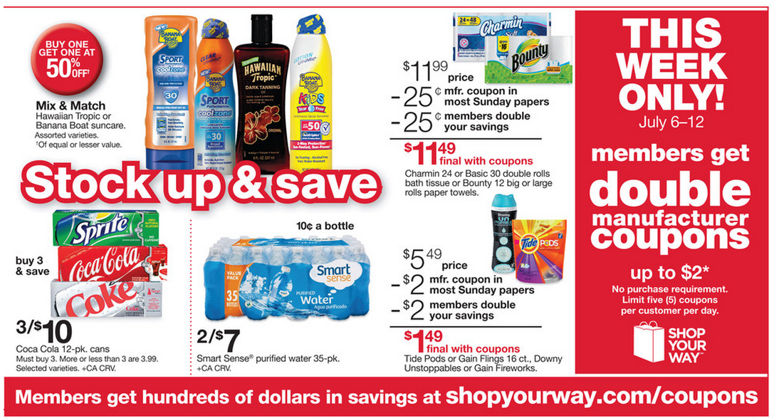 here are a few deal ideas for the upcoming kmart double coupon event begins and pu0026g catalina promo