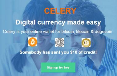 انضم الى احدث محفظه للعملات واحصل على 10$ بيتكوين مجانا مع Celery