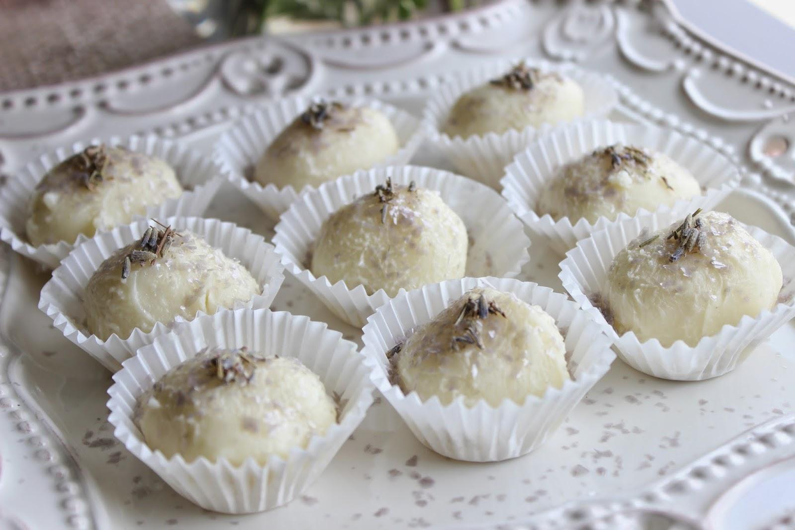 lemon lavender white chocolate truffle
