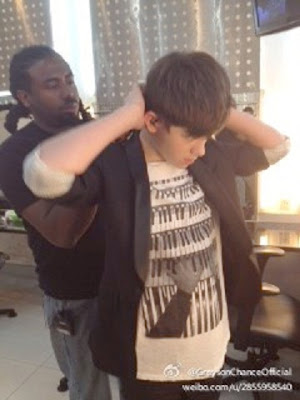"Greyson wires up for ""Happy Camp"" TV China July 2012"