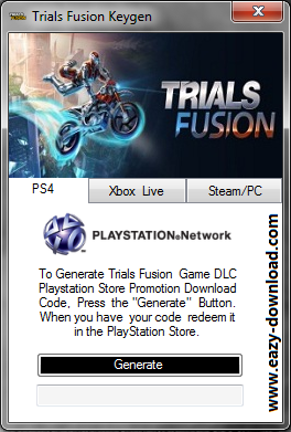 Trials Fusion Keygen - PS4