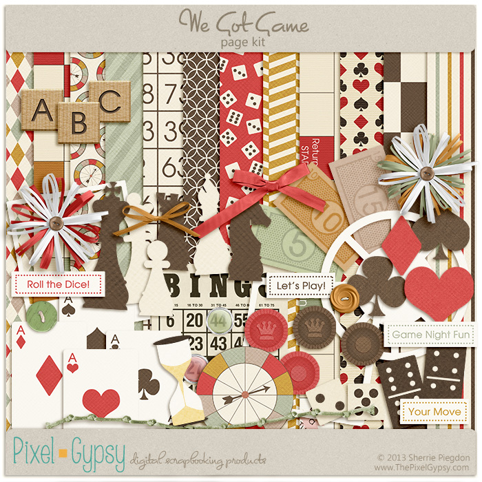 We Got Game Digital Scrapbooking Page Kit