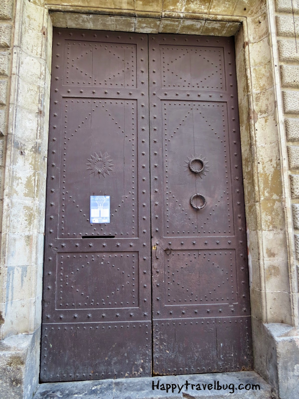 Metal door in Barcelona, Spain