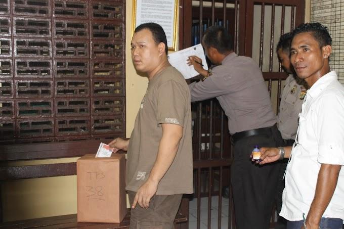 Tahanan Polresta Depok Ikut Nyoblos
