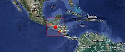 Epicentro siso 6,2 grados en Guatemala, el 25 de marzo de 2013