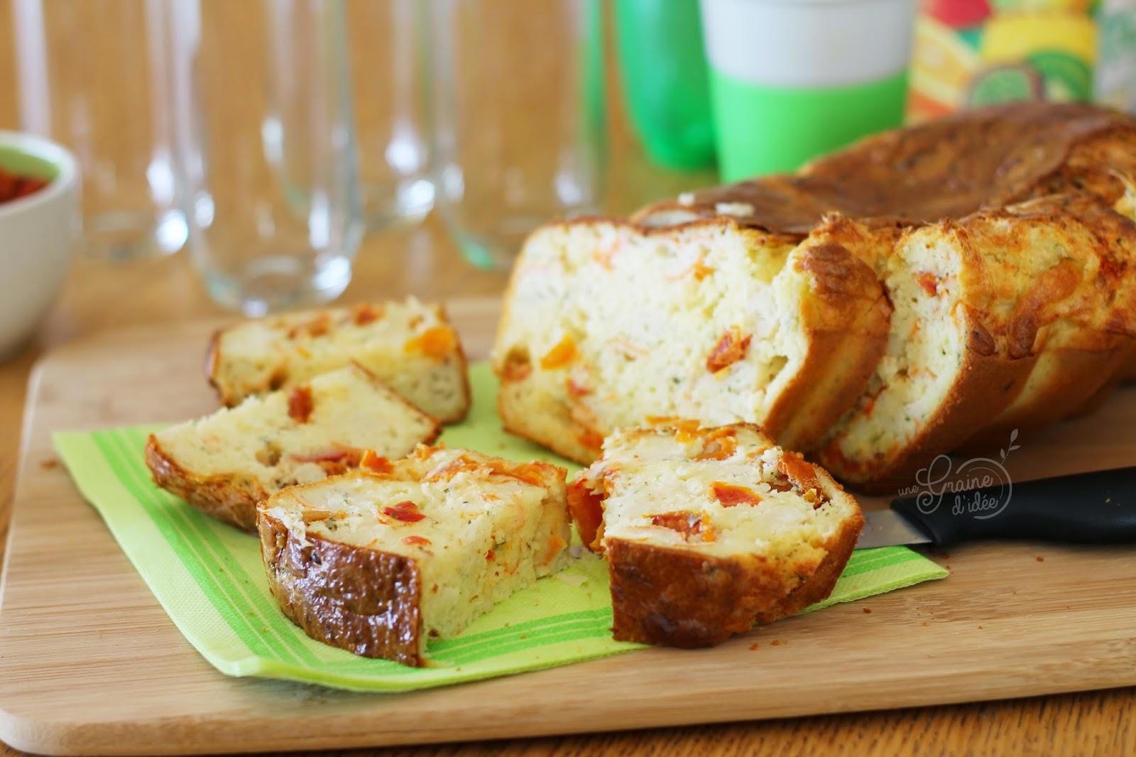 Cake Surimi Boursin Cuisine Ails et Fines Herbes Tomates Séchées - Une Graine d'Idée