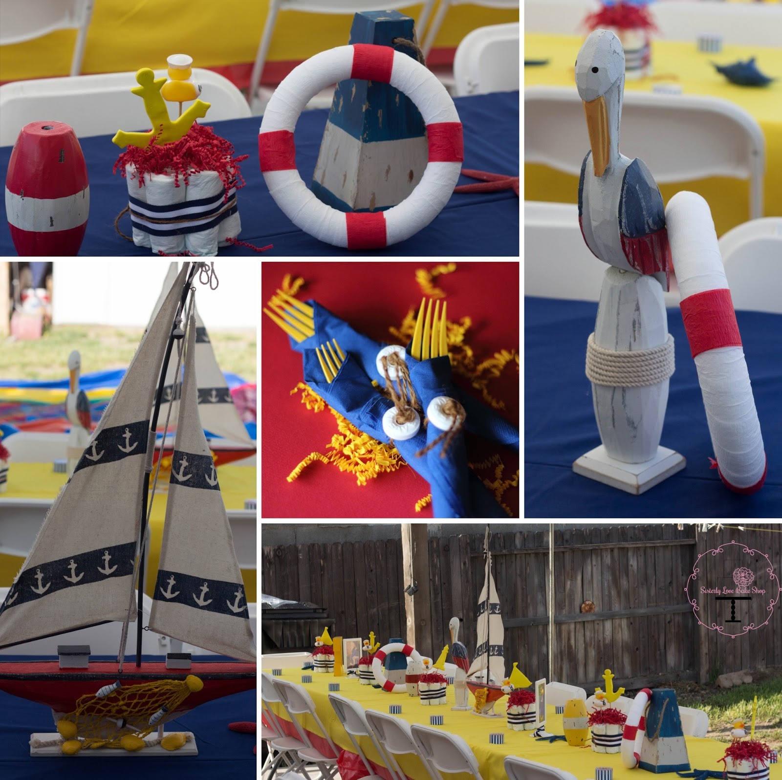 Nautical Decor Centerpieces: Pastel Cake Design: {Part 3} Nautical Baby Shower Decor