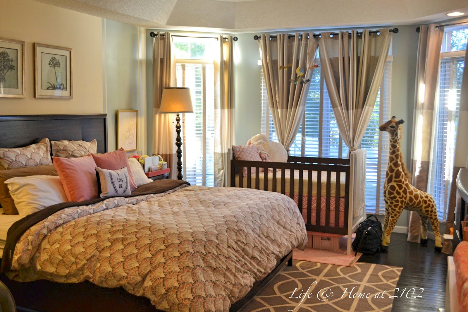 Life Home At 2102 Master Bedroom With Nursery Reveal