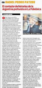 NOTA DE DIARIO POPULAR A PEDRO PATZER