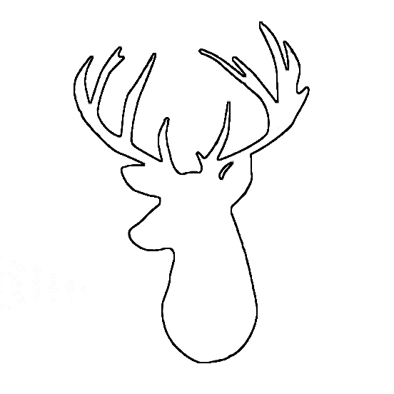 Go Back > Gallery For > Deer Head Template