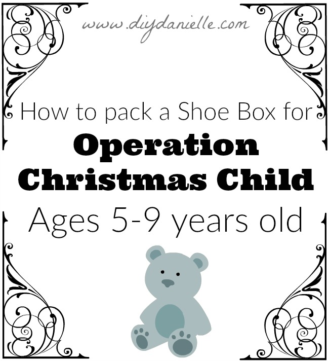 Items we used inside our 5-9 year old Christmas Child shoe boxes,