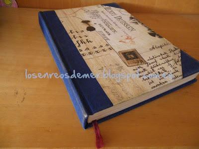 Cuaderno realizado en cartonaje