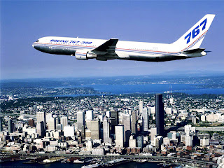 Boeing 747 Plane Cityscape Skyscapes HD Wallpaper
