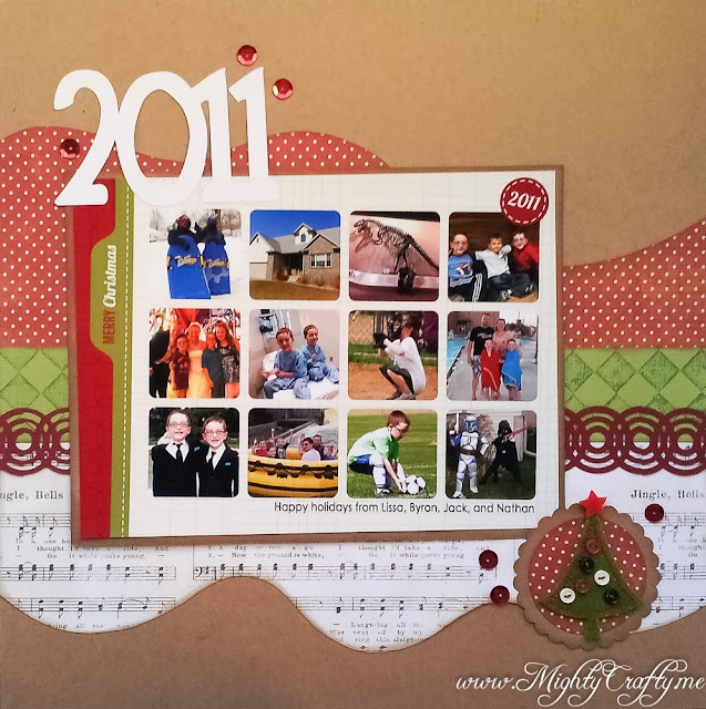2011 Christmas album cover page -- www.MightyCrafty.me