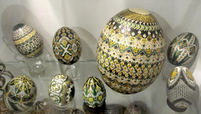 Painted eggs exhibition - with traditional symbols