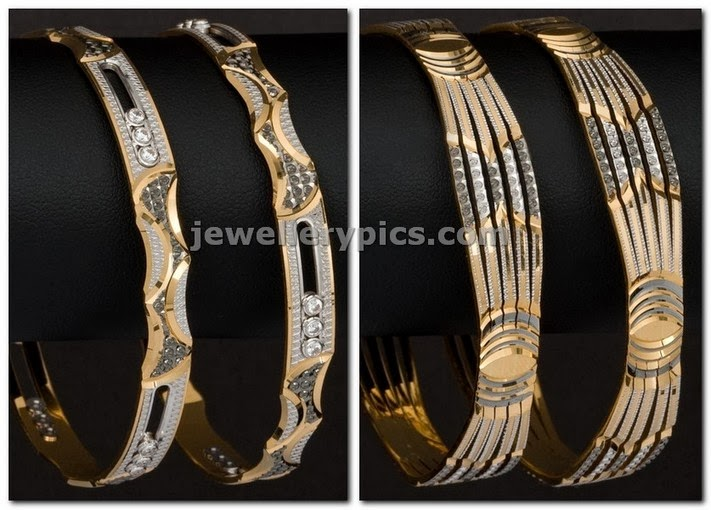 rhodium polish gold latest bangles