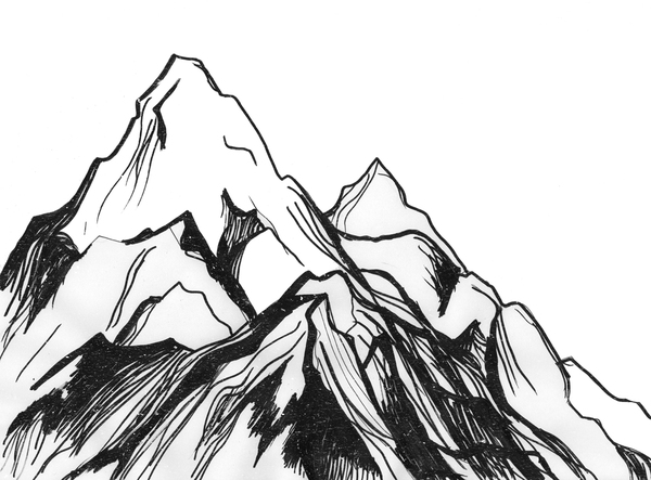 Line Drawing Mountain : Mountain pictures mountains sketch