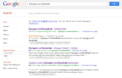 Google search results for Eyriqazz vs Denaihati early July