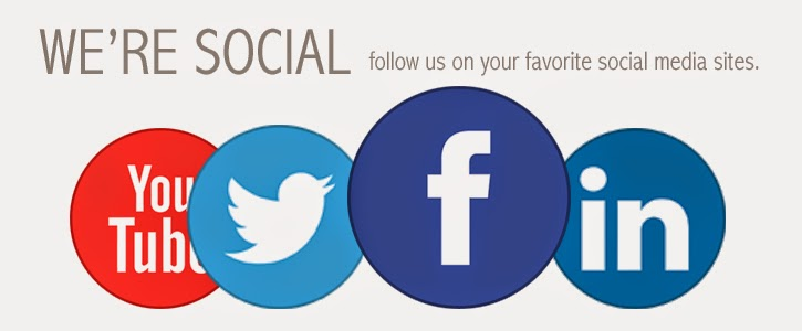 Follow us on your favourite social media sites.